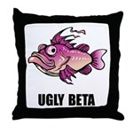 Ugly Beta Throw Pillow