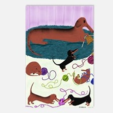 Knitting Dachshund Postcards (Package of 8)