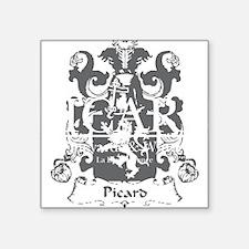 "Picard-Vineyards-blk Square Sticker 3"" x 3"""