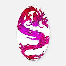 Power Dragon Oval Car Magnet