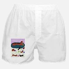 KnittingDachshundJournal Boxer Shorts