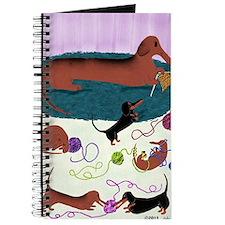 KnittingDachshundPrint Journal