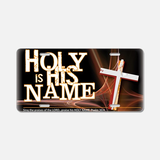 holy-name Aluminum License Plate