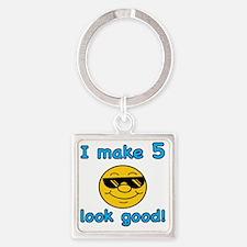 LookGoodb5 Square Keychain