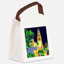 balboa park at night 9x12 Canvas Lunch Bag