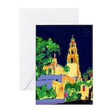 balboa park at night 9x12 Greeting Card