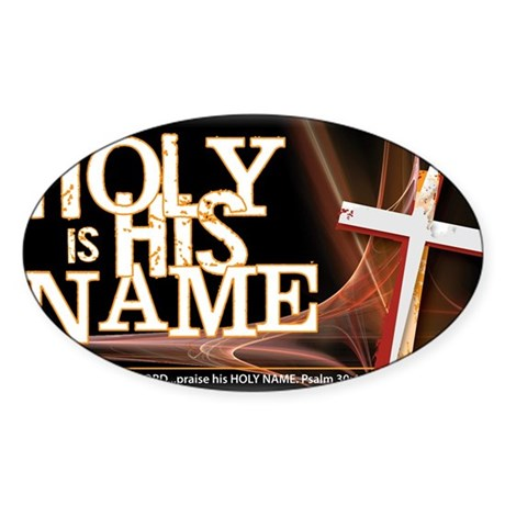 holy_name_trans Sticker (Oval)