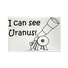 I can see Uranus! Rectangle Magnet