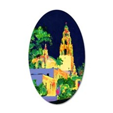 balboa park at night 10x14 35x21 Oval Wall Decal