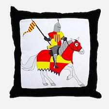 medievalKnight Throw Pillow