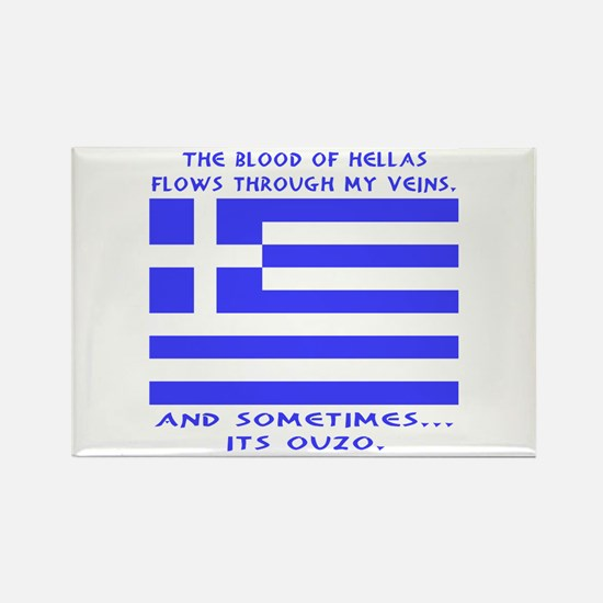Blood of Hellas & Ouzo Rectangle Magnet