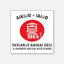 "Skylands2011 heavy front Square Sticker 3"" x 3"""