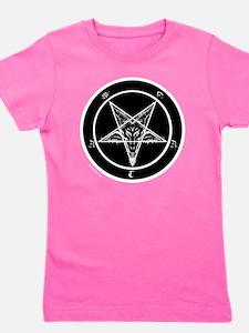satan goat pentagram sigil of baphomet Girl's Tee
