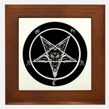 satan goat pentagram sigil of baphomet Framed Tile