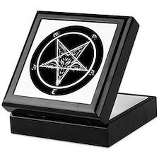 satan goat pentagram sigil of baphome Keepsake Box