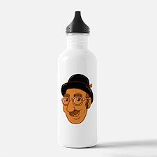 Eddy Detroit Head-WHIT Water Bottle