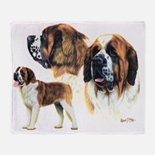 St Bernard multi Throw Blanket