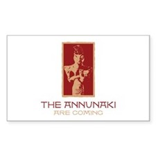 The Annunaki Are Coming Rectangle Decal