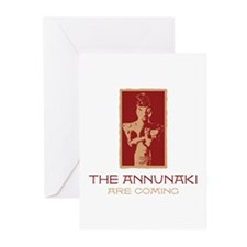 The Annunaki Are Coming Greeting Cards (Package of