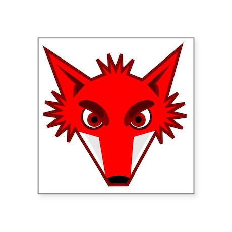 "PeterM_Foxhead Square Sticker 3"" x 3"""