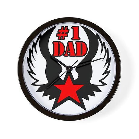 #1 dad star wing Wall Clock
