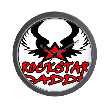rockstar daddy Wall Clock