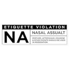Nasal Assault Bumper Bumper Sticker