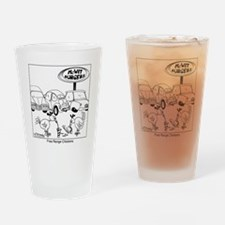 7784_parking_lot_cartoon Drinking Glass