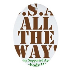 CSA All The Way Oval Ornament