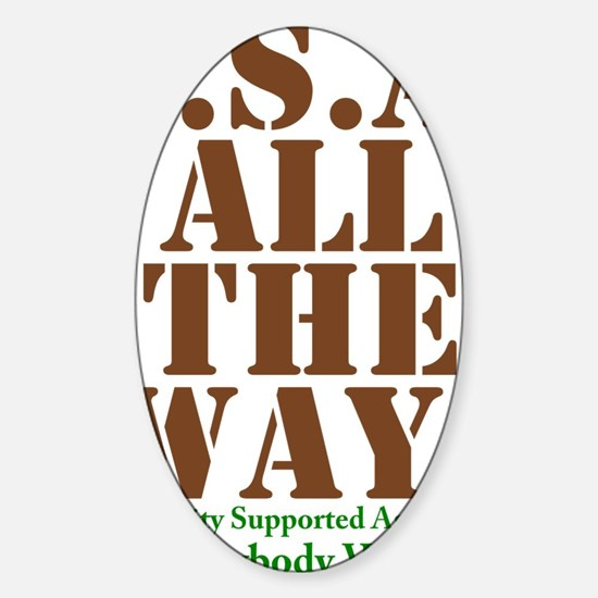 CSA All The Way Sticker (Oval)