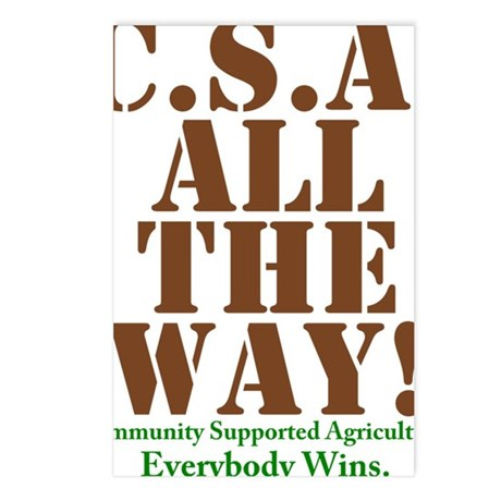 CSA All The Way Postcards (Package of 8)