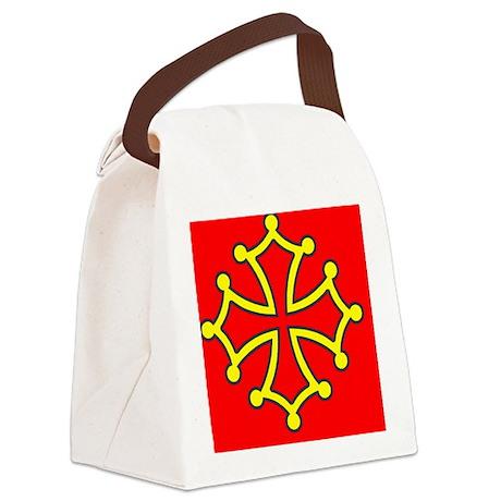 Occitan Sticker Canvas Lunch Bag