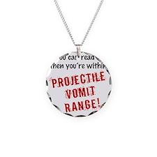 Vomit Necklace Circle Charm