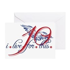 i-live-for-this-10-wings Greeting Card