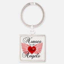 Nurses Angels copy Square Keychain