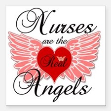 "Nurses Angels copy Square Car Magnet 3"" x 3"""