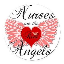 Nurses Angels copy Round Car Magnet