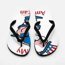 Kiss My American Ass Flip Flops