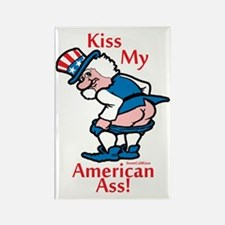 Kiss My American Ass Rectangle Magnet