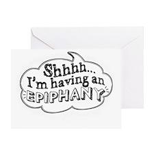 Epiphany_white Greeting Card
