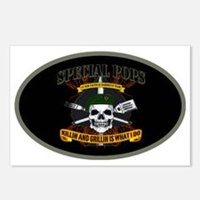 #1_DAD_SPECIAL OPS_5x3ova Postcards (Package of 8)