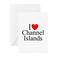 """""""I Love Channel Islands"""" Greeting Cards (Package o"""