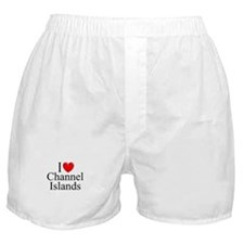 """I Love Channel Islands"" Boxer Shorts"