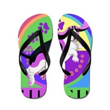 Basset Hound Graphic for T Flip Flops