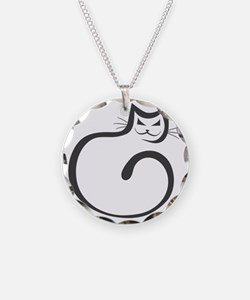Whimsical Black Cat Necklace