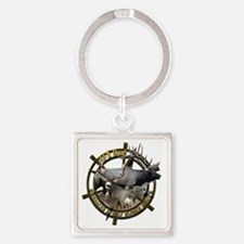 Hunting dad Square Keychain