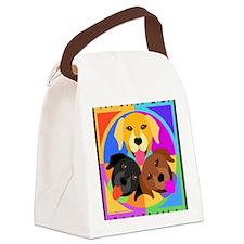 Labrador Retriever Graphic BLK Canvas Lunch Bag