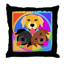 Labrador Retriever Graphic BLK Throw Pillow