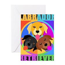 Labrador Retriever Graphic BLK Greeting Card
