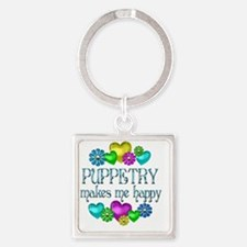 PUPPETRY Square Keychain